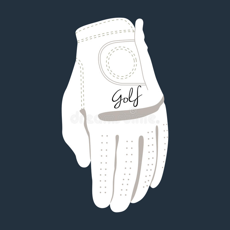 Isolated golf glove. On a blue background, Vector illustration vector illustration