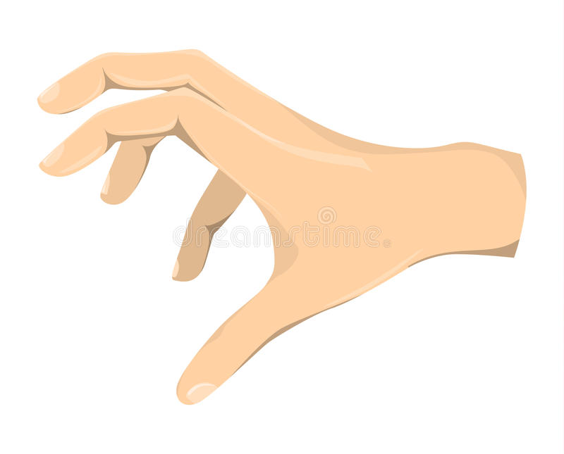 Isolated grabbing hand. stock illustration