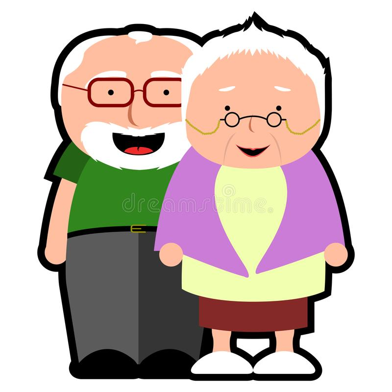 Isolated grandparents icon. On a white background, Vector illustration royalty free illustration