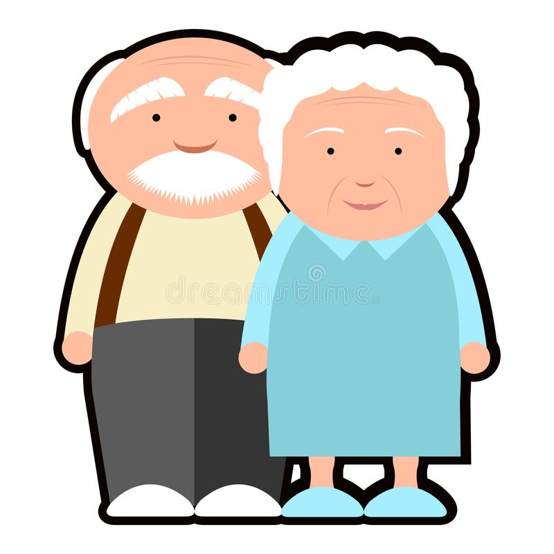 Isolated grandparents icon. On a white background, Vector illustration stock illustration