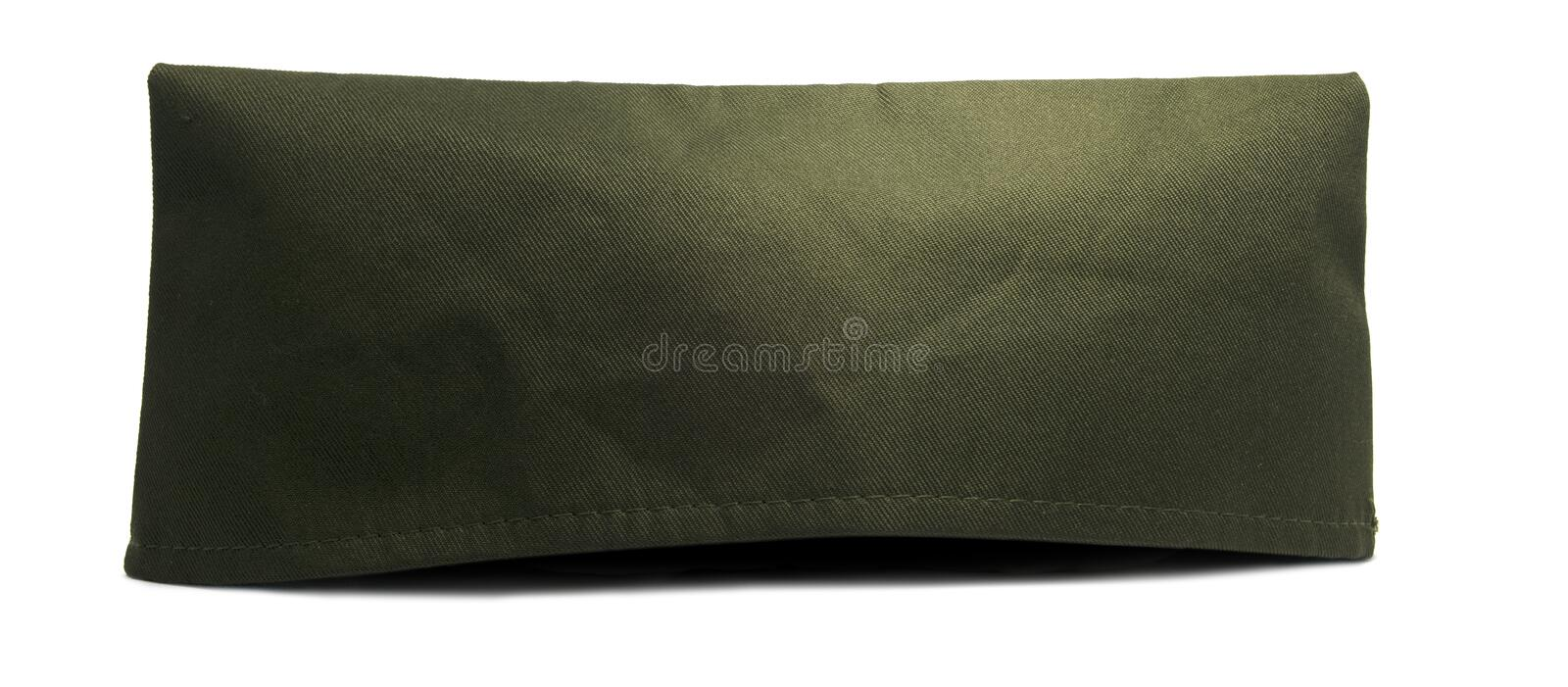 Isolated Green Army Cap. United States green army hat isolated on a white background royalty free stock photography