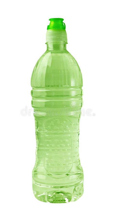 Isolated Green Bottle royalty free stock photo
