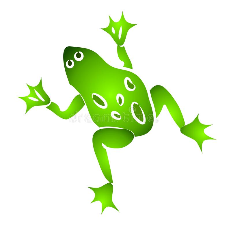 Isolated Green Frog Clip Art stock photo