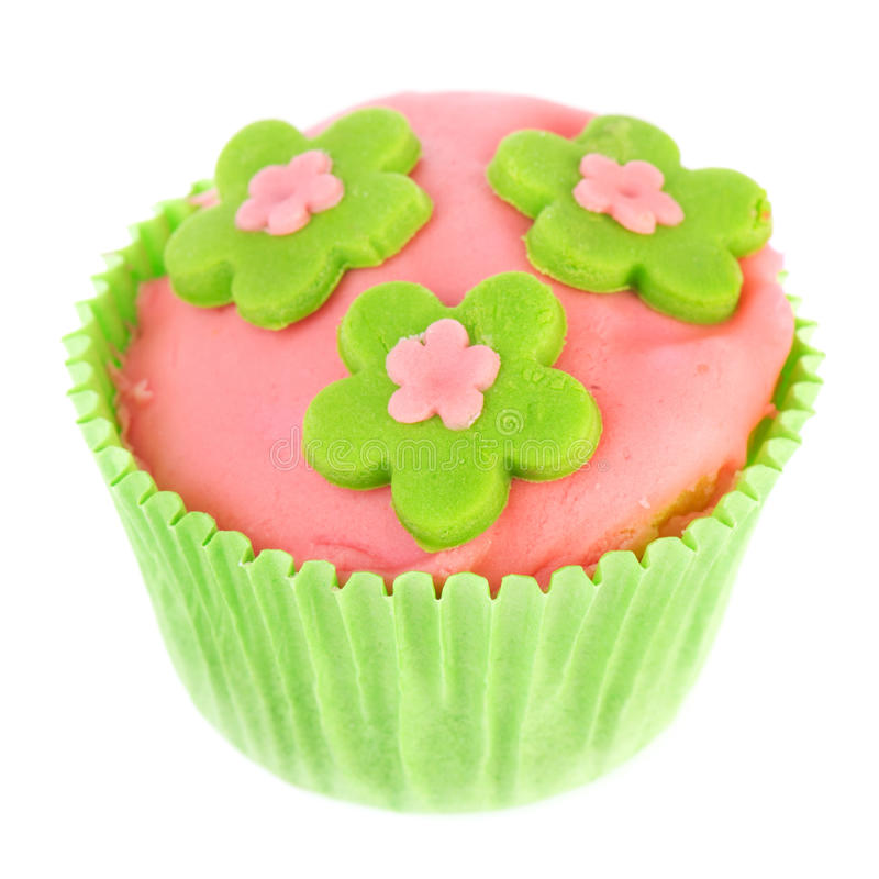 Download Isolated Green And Pink Cupcake Stock Image - Image: 24565465