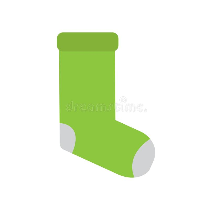 Isolated green socks icon vector illustration