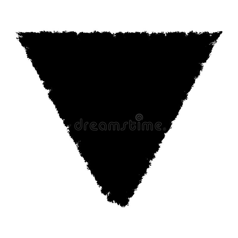 Isolated Grunge Triangle. Shape overlay texture. Distress artistic template. EPS10 vetor vector illustration