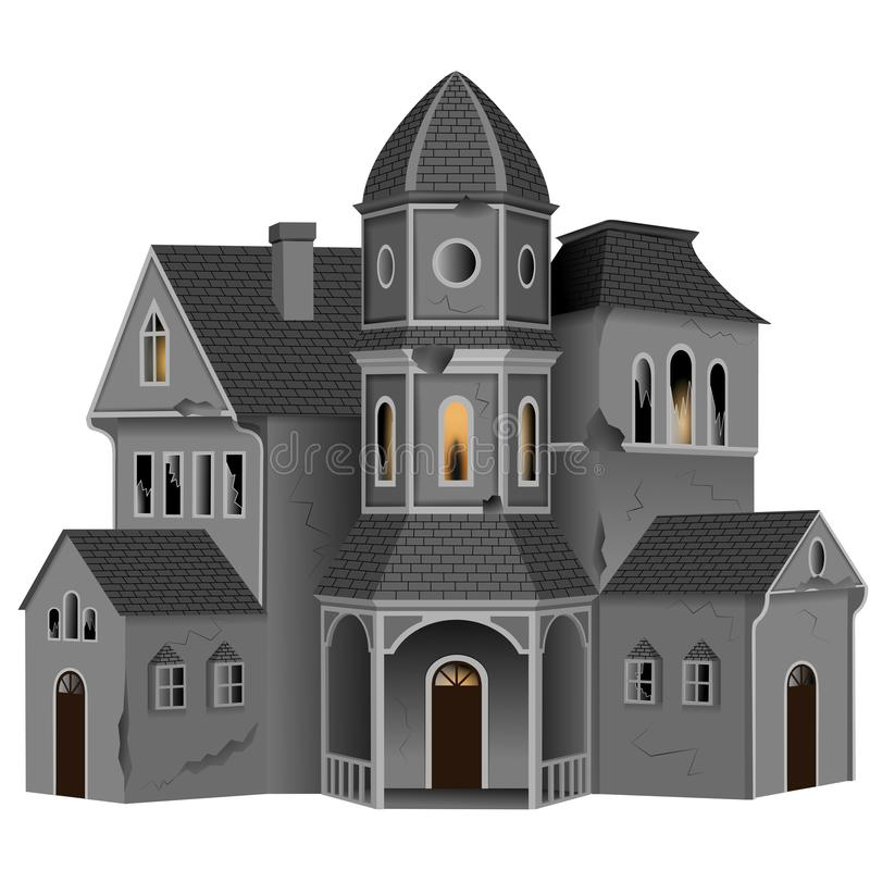 Isolated halloween haunted house illustration. Vector additional format avaiable vector illustration