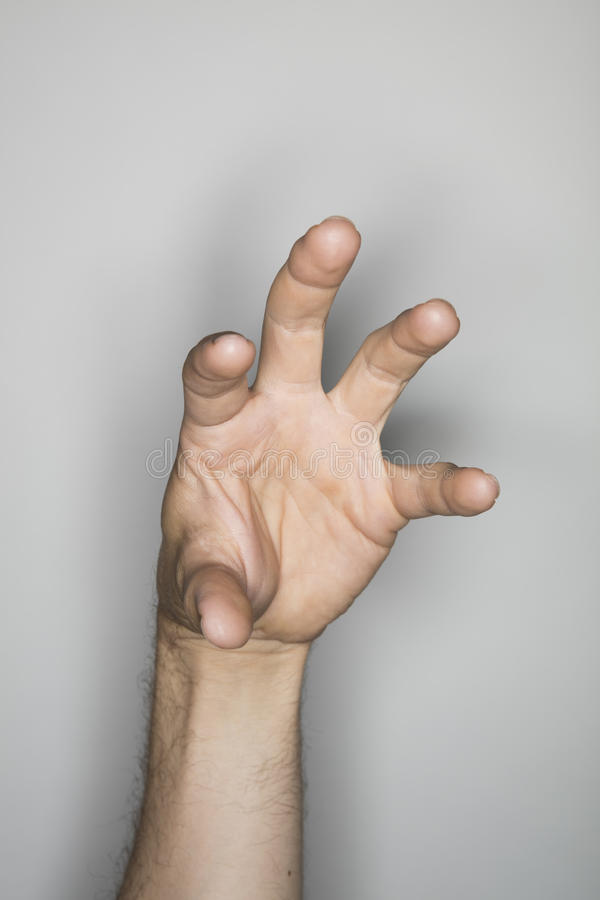 Isolated hand gesture stock image