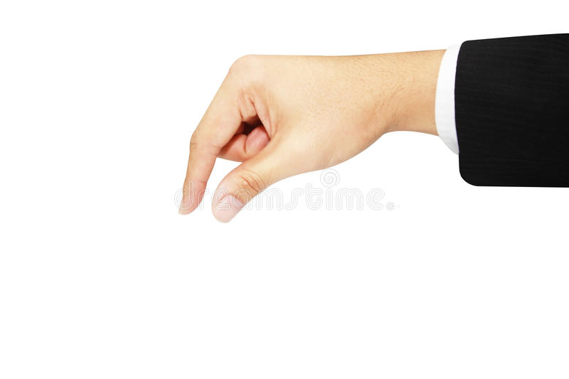Isolated hand picking up. Isolated business hand picking up royalty free stock photography