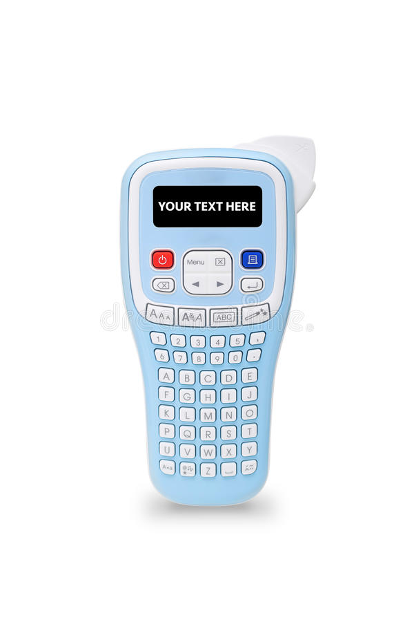Free Isolated Handheld Label Maker With Copyspace Royalty Free Stock Image - 78305586