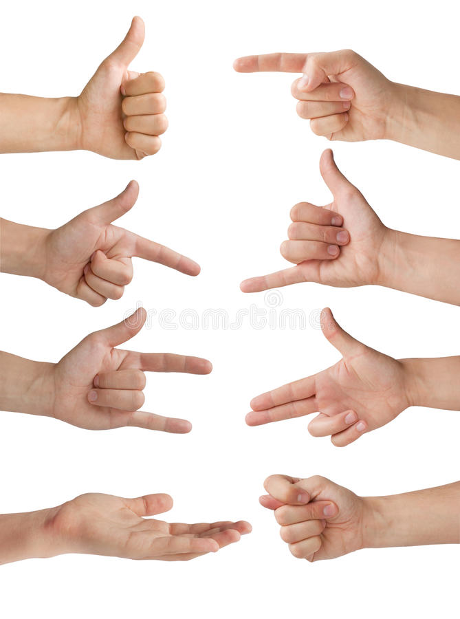 Isolated hands royalty free stock images