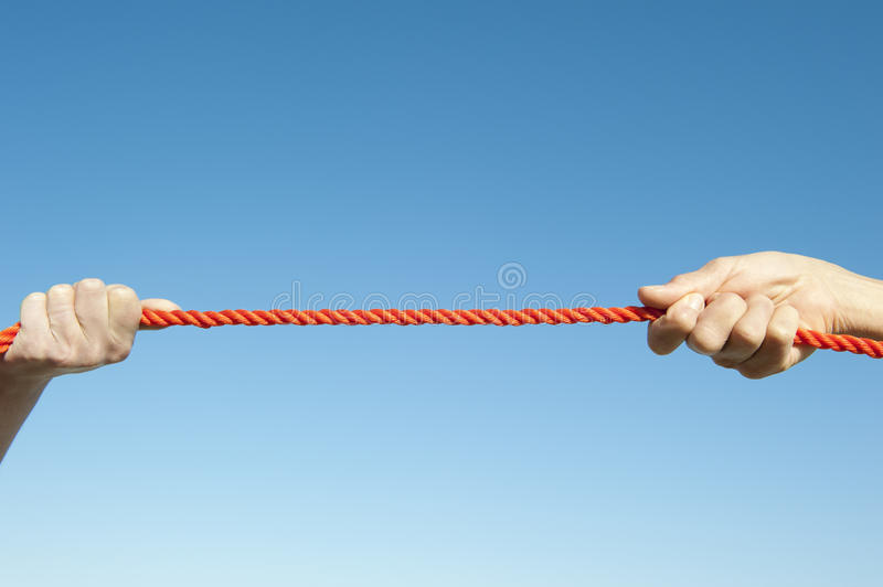 Download Isolated Hands Pulling Rope Stock Photo - Image: 26321220