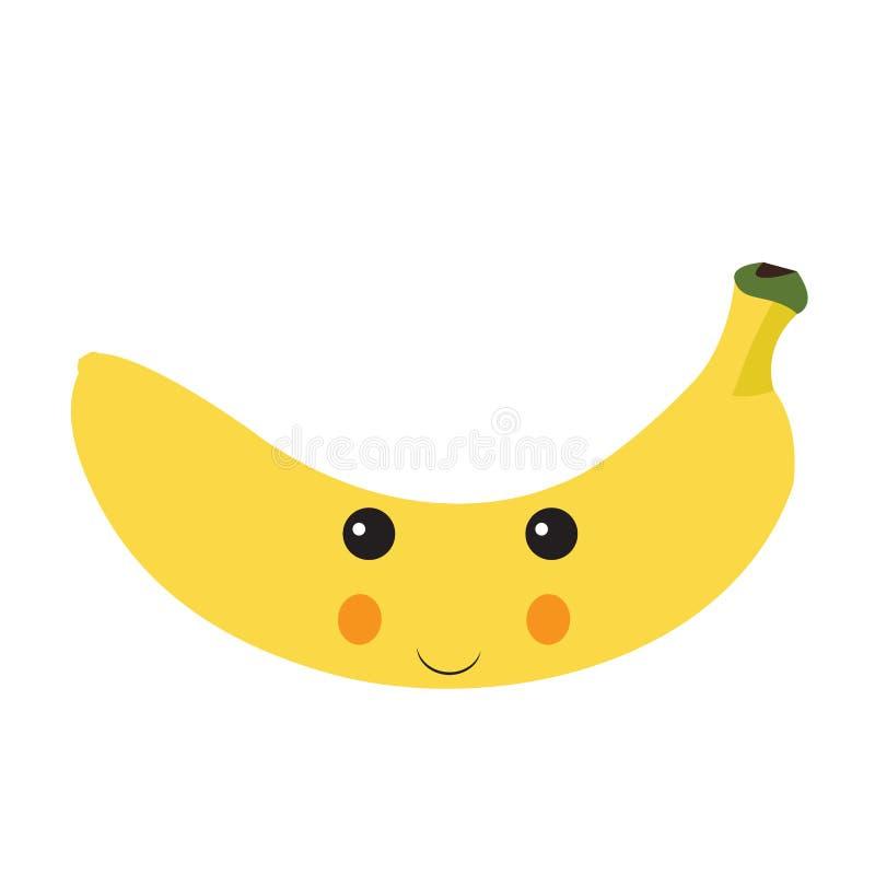 Isolated happy banana royalty free illustration