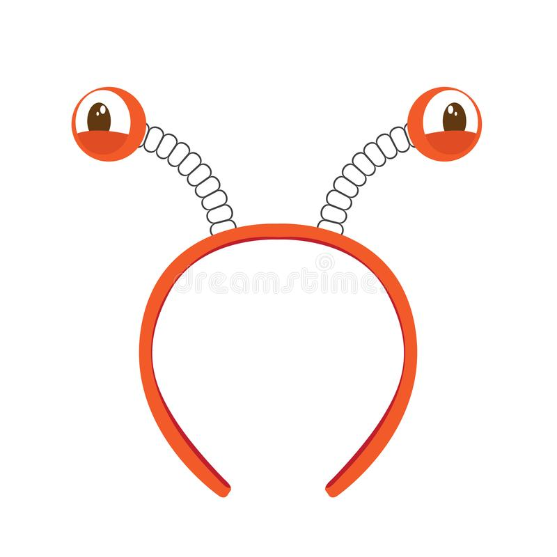 Isolated headband icon with crab eyes. Vector illustration design