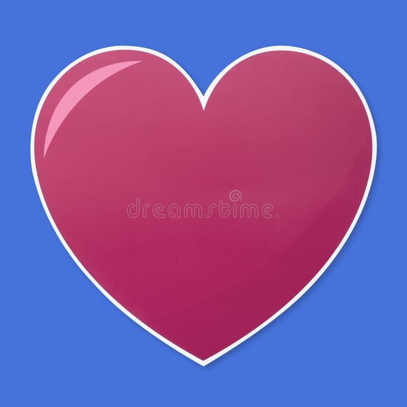 Isolated heart shape illustration icon royalty free stock photo