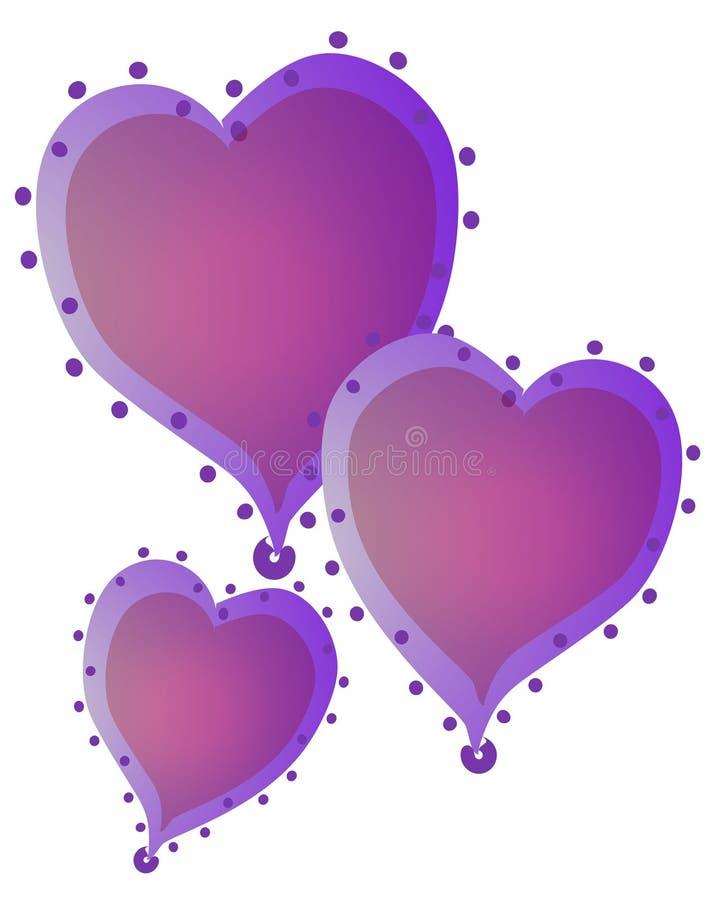 Isolated Hearts Clip Art 1 stock photography