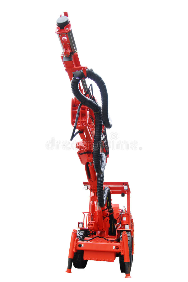 Isolated heavy mine machine close view stock images