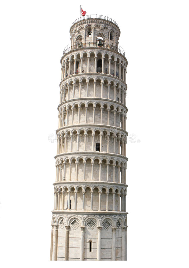 Isolated Hi Res Tower of Pisa royalty free stock image