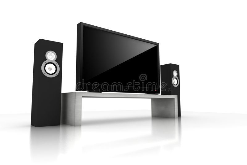 Isolated Home Teather Stock Photo