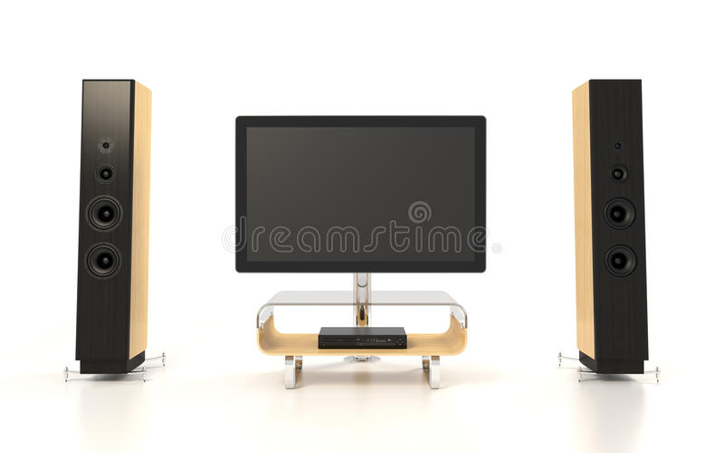Download Isolated Home Theater stock illustration. Image of living - 26496839