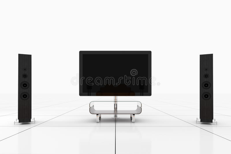 Isolated Home Theater royalty free illustration