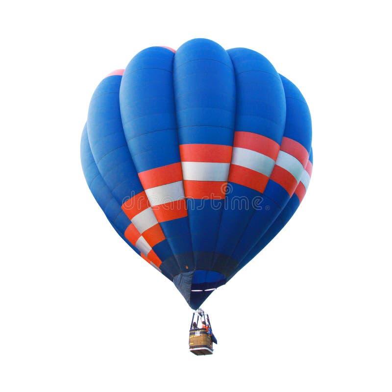 Isolated hot air balloon. The Isolated hot air balloon stock photography