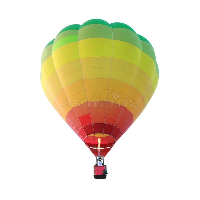 Isolated hot air balloon. The Isolated hot air balloon stock photos