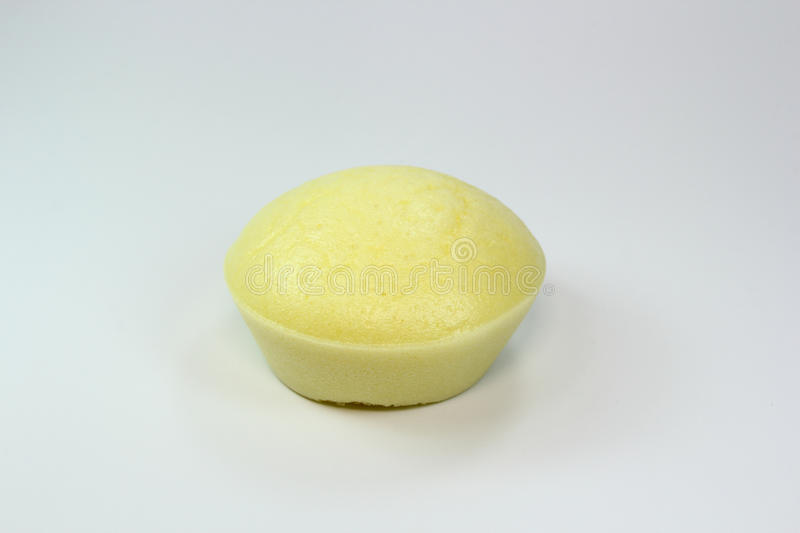 Isolated hot Steamed Rice Cake. Made by flour royalty free stock photo