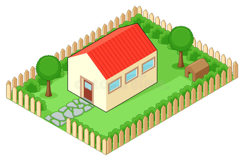 Isolated house royalty free illustration