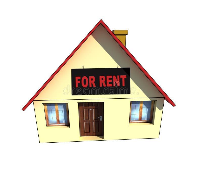 Isolated house illustration royalty free stock image