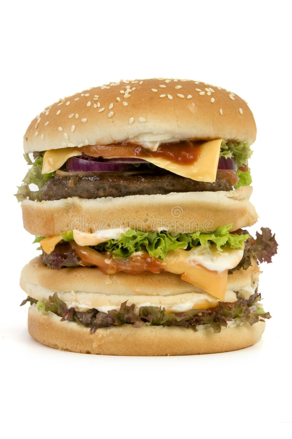 Download Isolated HUGE burger stock photo. Image of calories, eating - 1577908