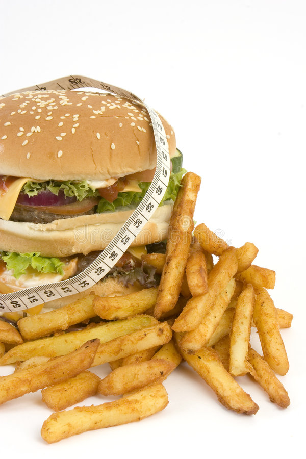 Isolated HUGE Burger Owith Tape Royalty Free Stock Photos