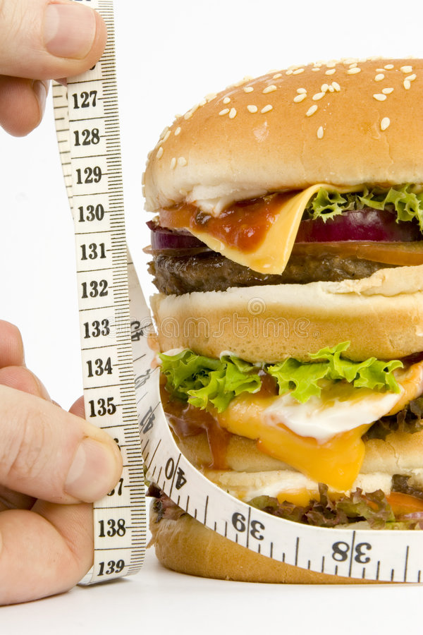Download Isolated HUGE Burger On Scales Stock Photo - Image: 1577980