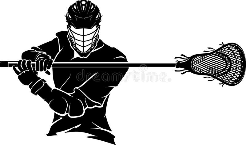 Lacrosse Pose in Front View vector illustration