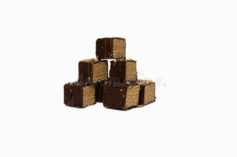 Isolated image of chocolate candy on a white background stock photos