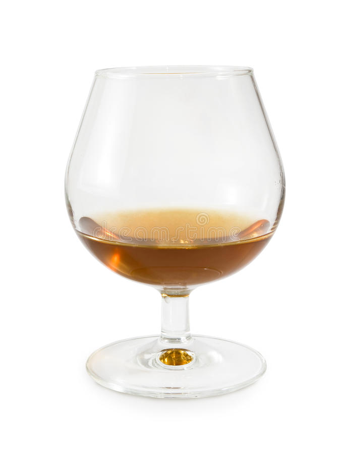 Isolated image of a glass of cognac on a white background royalty free stock image