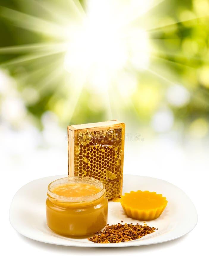 Isolated image of honey close-up stock photos