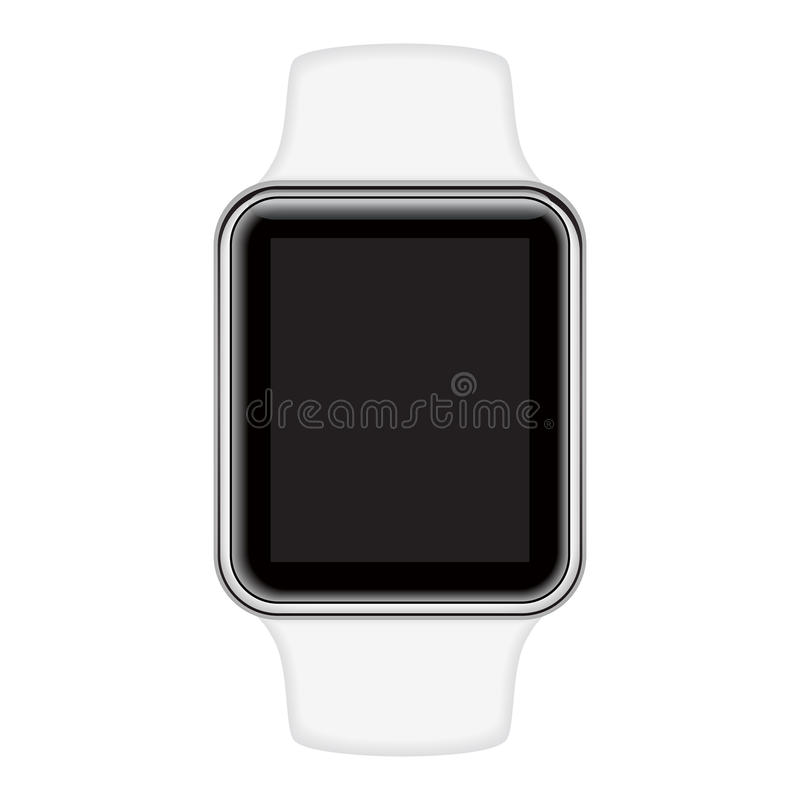 Isolated image of smart watch. Vector illustration royalty free illustration