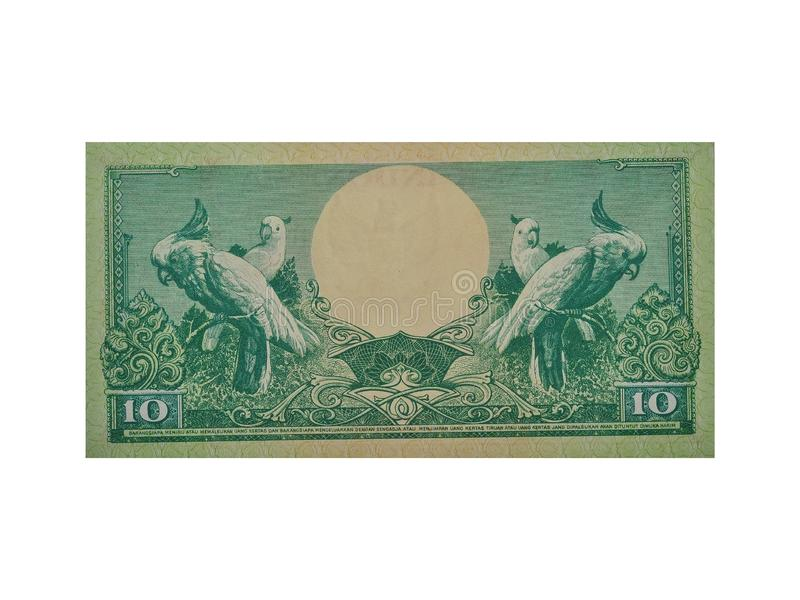 Isolated Indonesian banknotes. Indonesian currency stock image