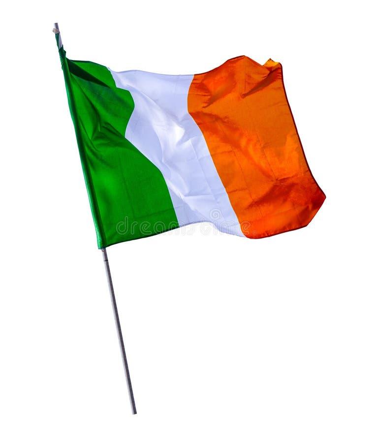Isolated Irish Flagpole stock photos