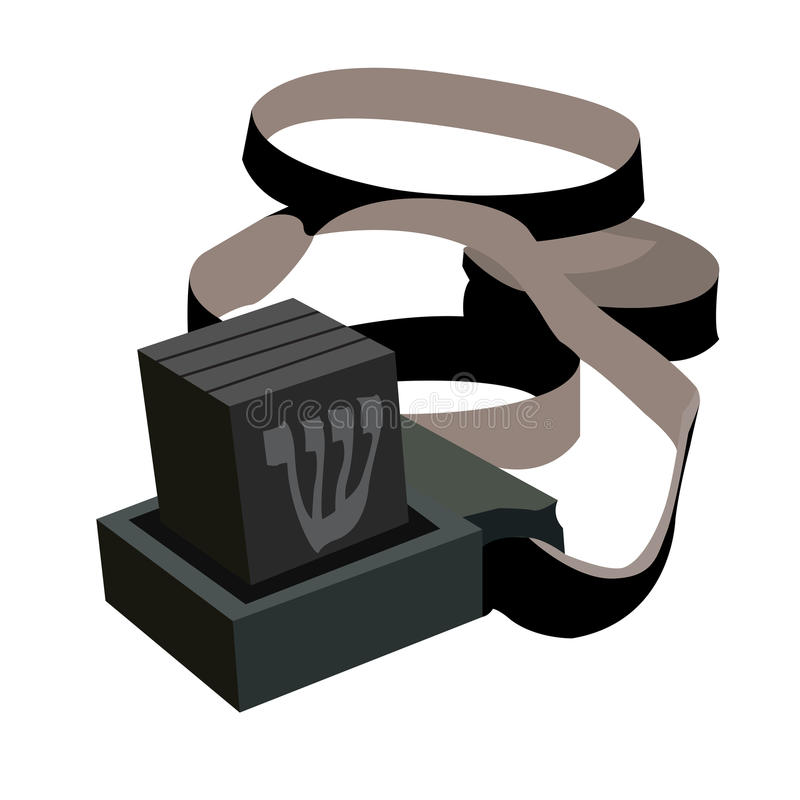 Isolated jewish prayer object royalty free illustration