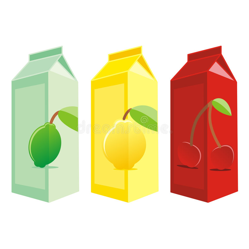 Download Isolated Juice Carton Boxes Stock Vector - Illustration of sweet, color: 8291217