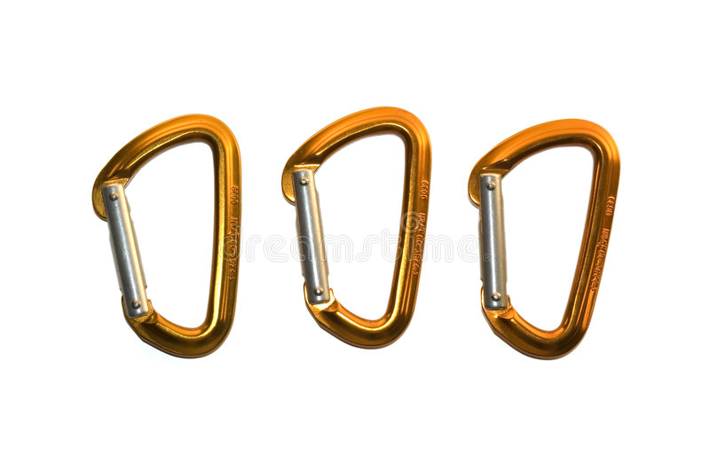Isolated karabiners stock photos
