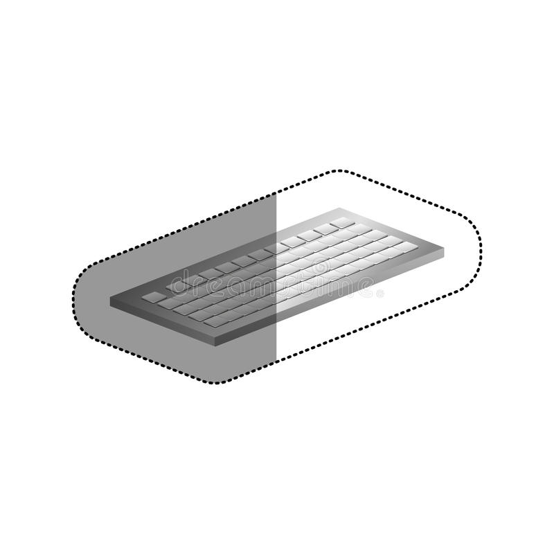 Isolated keyboard device design. Keyboard icon. Device gadget technology and electronic theme. Isolated design. Vector illustration royalty free illustration