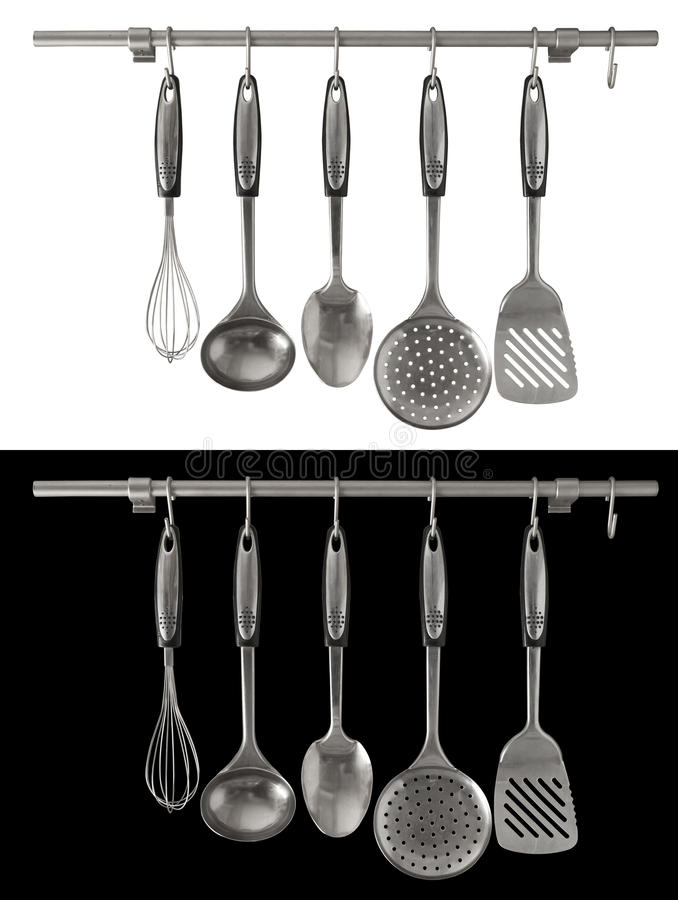 Isolated Kitchen Utensils royalty free stock photography