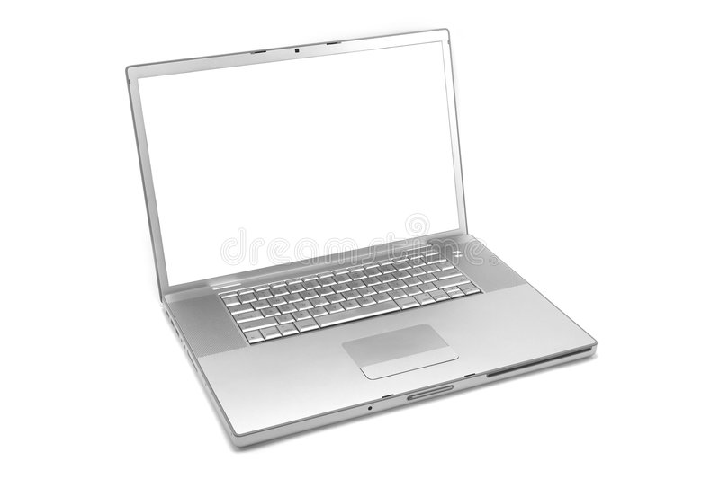 Isolated laptop royalty free stock photo