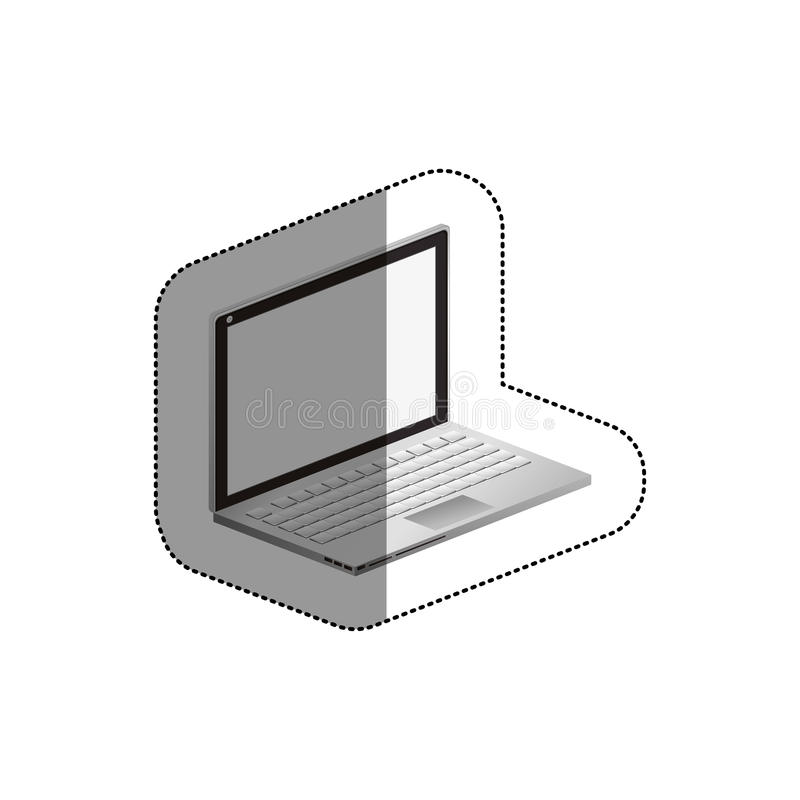 Isolated laptop device design. Laptop icon. Device gadget technology and electronic theme. Isolated design. Vector illustration royalty free illustration