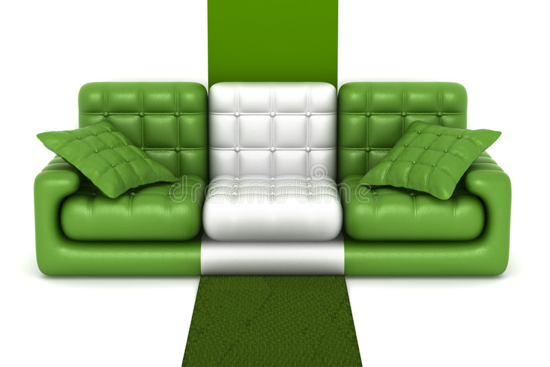 Download Isolated leather sofa. stock illustration. Image of furnishings - 7626919