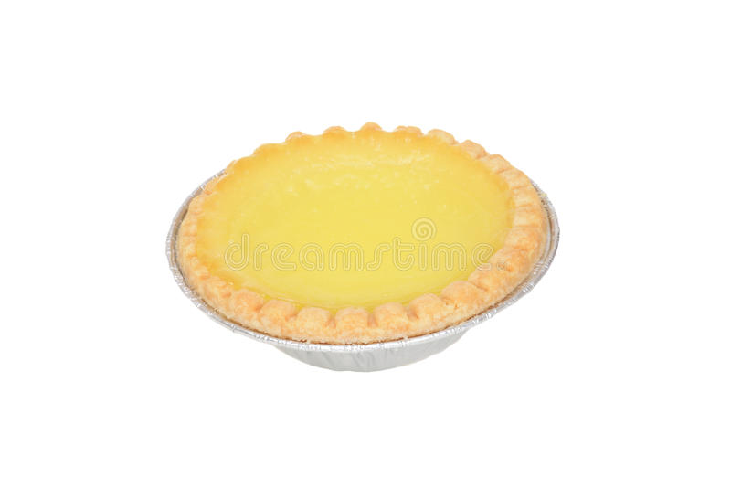 Isolated lemon tart stock image