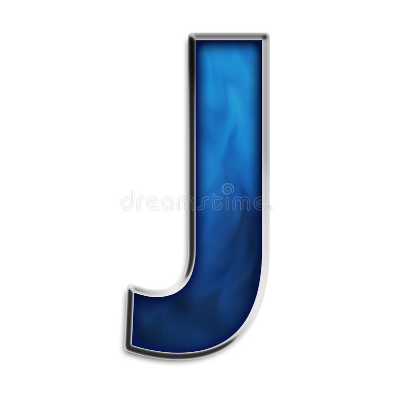 Download Isolated Letter J In Tribal Blue Stock Illustration - Image: 5022026